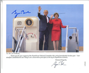 George Bush Usa President Autographed Signed Picture Ebay