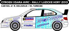 DECALS 1/43 CITROËN XSARA WRC #2 - ODLOZILIK - RALLYE LUZICKE HORY 2013 - D43224