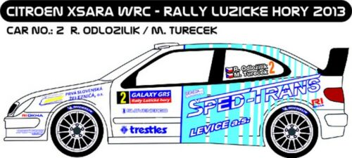DECALS 1//43 CITROËN XSARA WRC #2 D43224 ODLOZILIK RALLYE LUZICKE HORY 2013