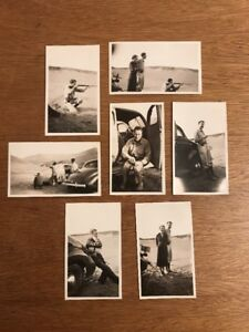 Lot-of-7-1930s-Pontiac-Coupe-Bakersfield-Kern-County-Shooting-Rifle-HANDSOME-MAN
