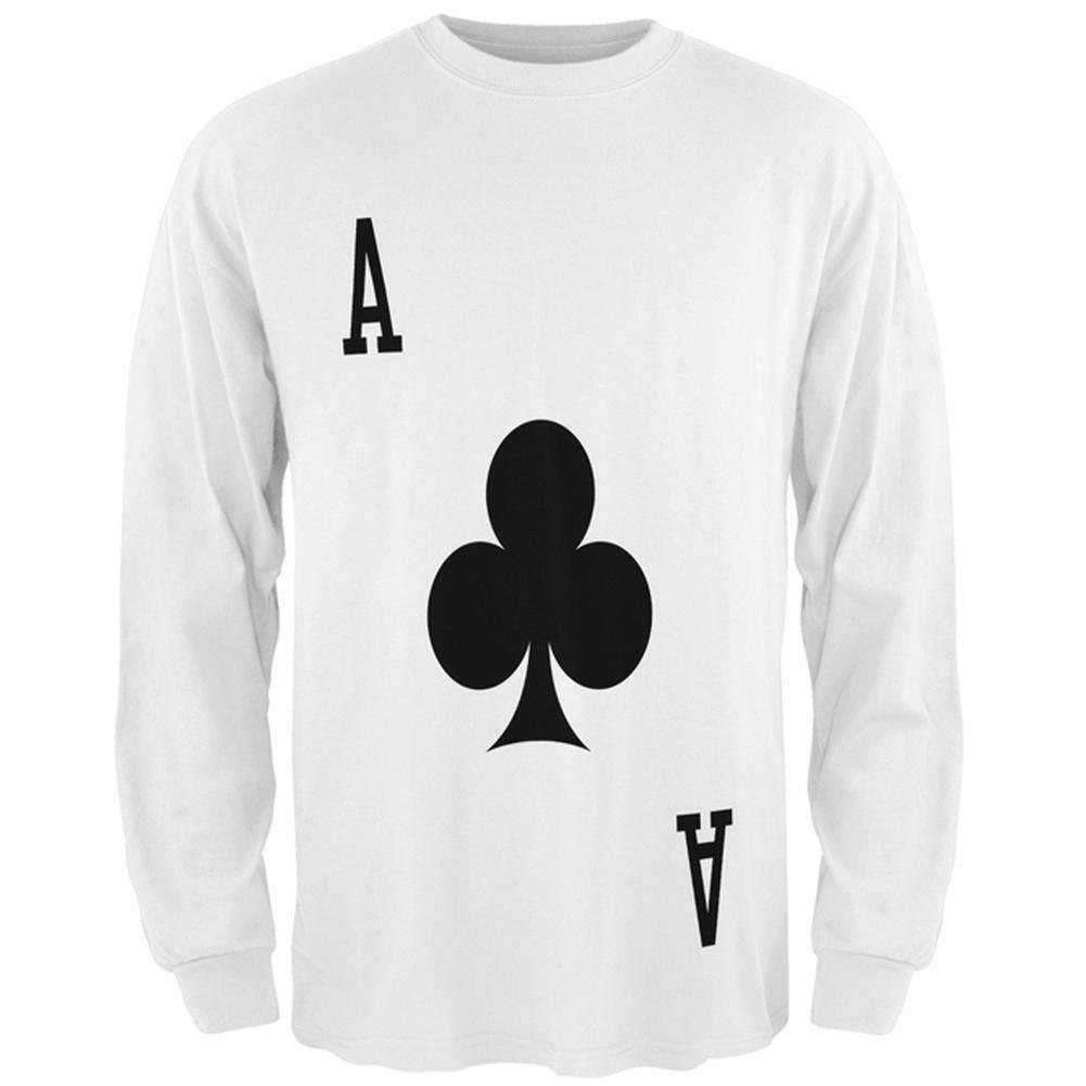 Halloween Ace of Clubs Card Soldier Costume All Over Mens Long Sleeve T Shirt