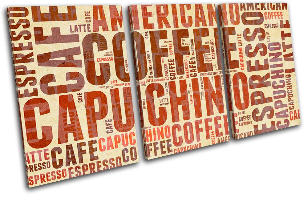 Coffee Typography  Food Kitchen TREBLE TELA TELA TELA parete arte foto stampa a5f28a