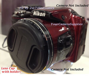 front snap on lens cap directly to nikon coolpix l820 digital camera