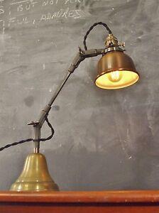 Vintage Industrial Desk Lamp - Machine Age Task Light - Cast Iron - Steampunk