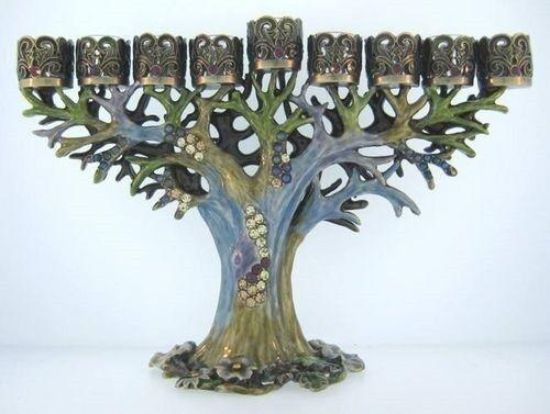 TREE MENORAH ~ BEJEWELED & ENAMEL ~  #4261