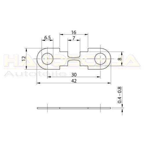Streifensicherung HSB Blattsicherung Sicherungsstreifen 30-175 Ampere