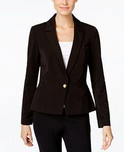 sleeve Inc Nwt Concepts 706254873451 collar Notched Long Black L International Deep Blazer qrBRnrtx