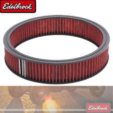 "Edelbrock 43666 Air Filter Washable Cotton Gauze 14 x 3/"" Round"