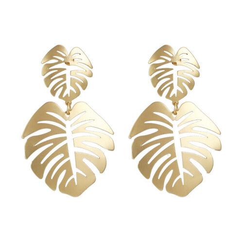 Fashion New Design Feuille Forme Goutte Dangle Boucles d/'oreilles pour femmes déclaration bijoux