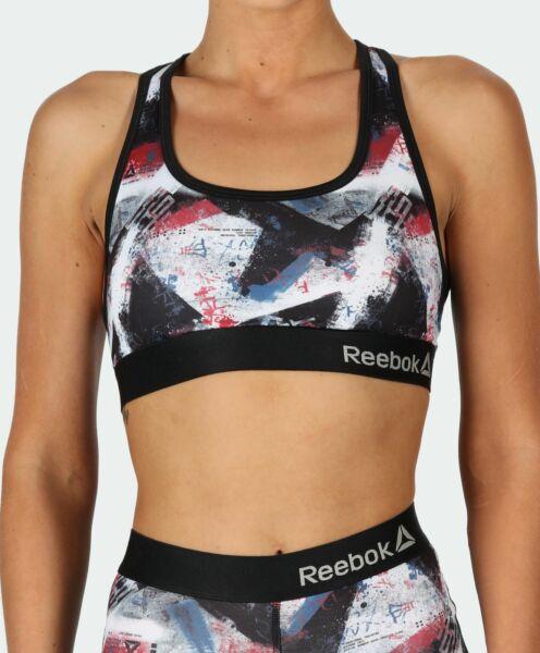 Reebok Damen Womens Sport Crop Top Bra LAUREL Red Black in S M L – NEU