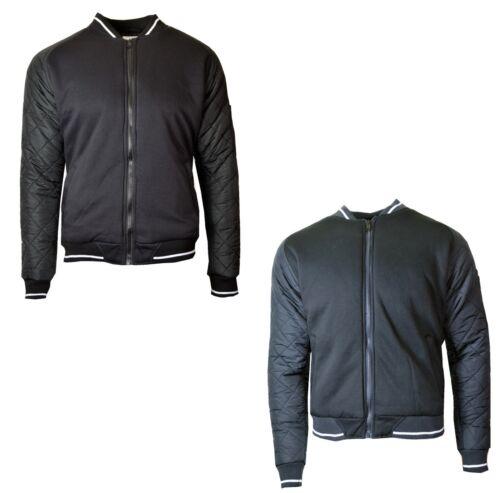 Da Uomo Soul Star Smart Casual Slim Fit Outwear design trapuntato BRACCIO Bomber