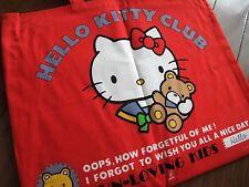 SUPER RARE SANRIO VINTAGE Hello kitty 1976 cotton cloth Big tote Bag red