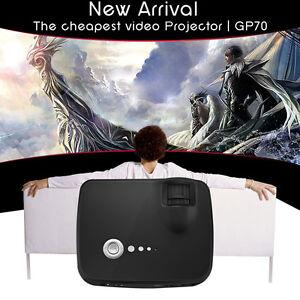 New GP70 Portable Full HD 1080P LED Projector Mini Home Cinema Video Game Beamer