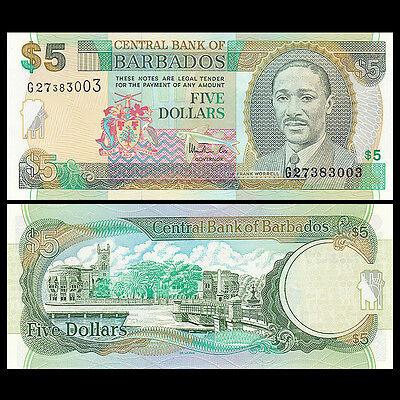 P-56 1999 UNC Barbados 10 Dollars ND Banknotes
