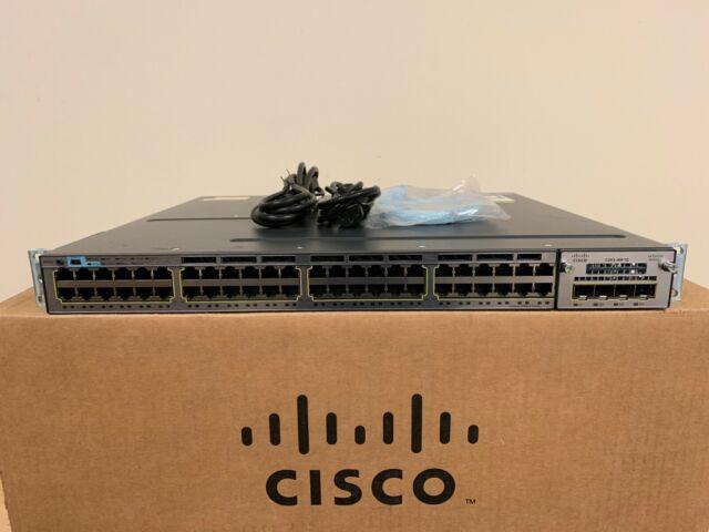 Cisco WS-C3750X-48T-S 48 Port Gigabit Switch 15.2 C3KX-Presque comme neuf-1G et 2x Alimentation 350WAC