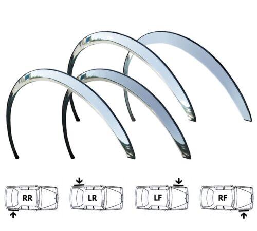 BMW 3 E46 Coupe Cabrio Rueda Arco recorta Cromo 4 piezas Delantero Trasero Alas Kit