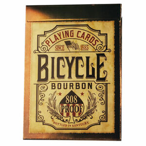 Bicycle Poker Playing Cards - Bourbon - 1 SEALED DECK - New