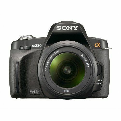 Sony Alpha A230 10.2MP DSLR Camera with 18-55mm Lens Kit DSLR-A230L Black