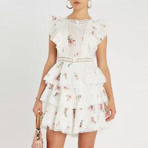 New-Zimmermann-Style-Heathers-Pintuck-Frill-Dress-Floral-Short-Dress-Women-Skirt