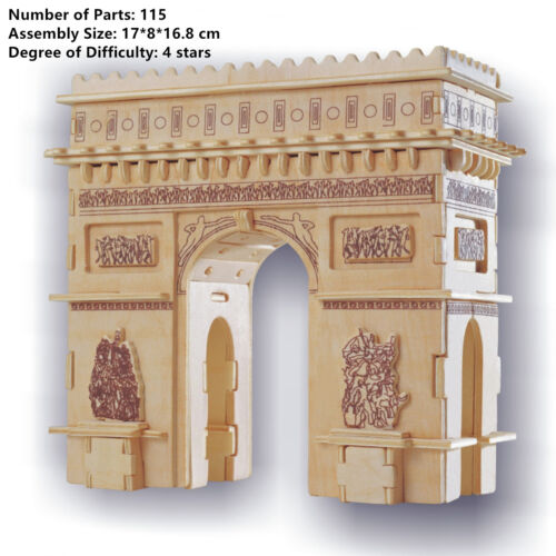 New Assembly DIY Education Toy 3D Wooden Model Puzzles Of Franch Triumphal Arch
