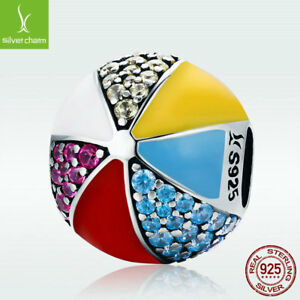 Unique-S925-Sterling-Silver-Colorful-Ball-Charm-Bead-Sparkling-Crystal-Fit-Chain