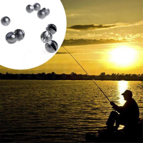 10Pcs Round Shape Split Shot Lead Sinker Fishing Tackle Weight 0.5//0.8//1.0//2.0g