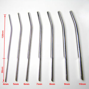 Image Is Loading Newmale Penis Stretcher Stainless Steel Urethral Sounding Dilater