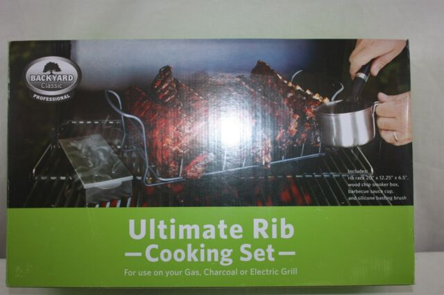Rib Cooking Set Professional Backyard Classic Gas-Charcoal-Electric NEW NWT - Backyard Classic Professional Ultimate Rib Cooking Set EBay