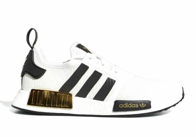 Men's Adidas Originals NMD R1 Boost White Gold Metallic EG5662