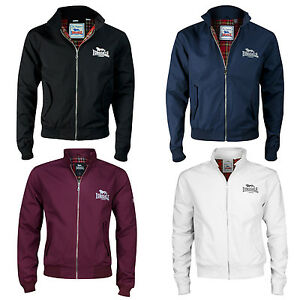 Lonsdale-Harrington-Jacket-Black-Oxblood-Blue-White-Punk-Goth-Skinhead-Slim-Fit