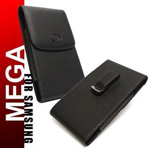 Samsung-Galaxy-S21-Plus-Premium-Black-Leather-Holster-Pouch-Case-Clip-w-Case