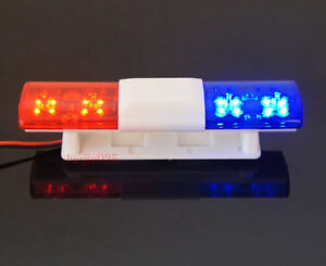 RC Police Light Bar Simulating Rotating Red and Blue LEDs
