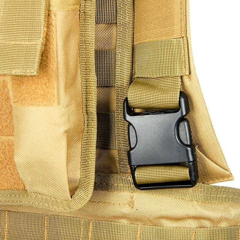 DLP RRV Tactical RRV DLP Chest Rig MOLLE Vest in Tan with four pouches d39d44