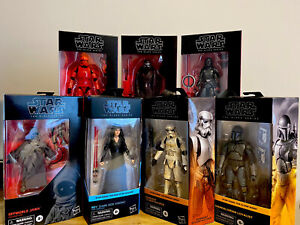 HASBRO STAR WARS BLACK SERIES LOT OF (7) FIGURES - SEALED, SOME UNCIRCULATED