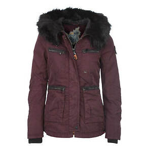 About Tapered Khujo Size Jacket Red Winter Wine Fitted Faux Makala Fur Women's Details Waisted 0OvmnyNw8P