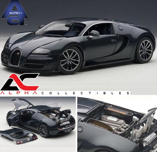 Autoart 1 18 Bugatti Veyron Super Sport Carbon Black: AUTOART 70938 1:18 BUGATTI VEYRON SUPER SPORT 16.4 CARBON