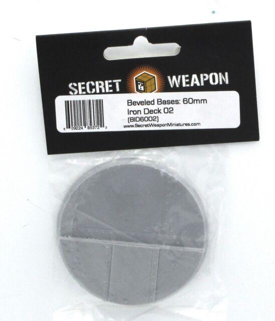 Steam Ship Steampunk Secret Weapon BID6002 60mm Iron Deck 02 Beveled Edge Base