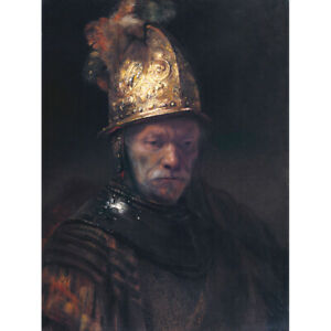 Rembrandt-Circle-The-Man-With-The-Golden-Helmet-Canvas-Art-Print-Poster