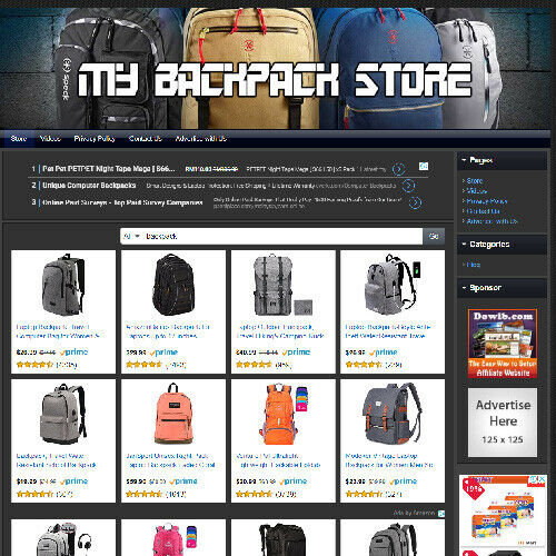 Backpack STORE - Profitable, Work From Home Online Business Website For Sale! 2