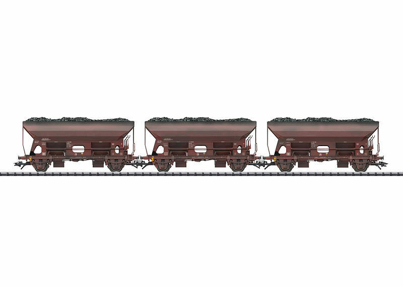 Trix 24123 Self-Unloading Wagon Set Type Otmm 70 the GDR 3 pieces  neu in Ovp
