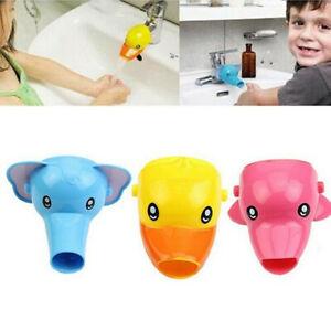 Tier-Waschbecken-Wasserhahn-Verlaengerung-Chute-Extender-Kinder-Haende-Waschen-PP
