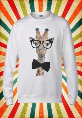 Giraffe Geek Bow Hipster Funny Cool Men Women Unisex Top Hoodie Sweatshirt 399