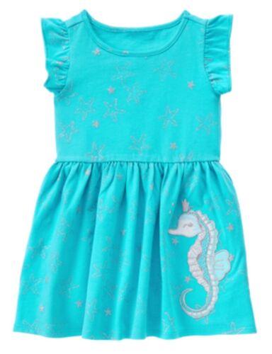 NWT GYMBOREE MERMAID COVE Girls Seahorse Starfish Dress 3t