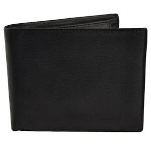 Mens-Gents-Classic-Leather-Bi-Fold-Wallet-Top-Quality-Black-Coin-Pocket