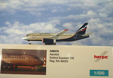 Herpa Wings 1:500  Sukhoi Superjet 100  Aeroflot RA-89025  528078