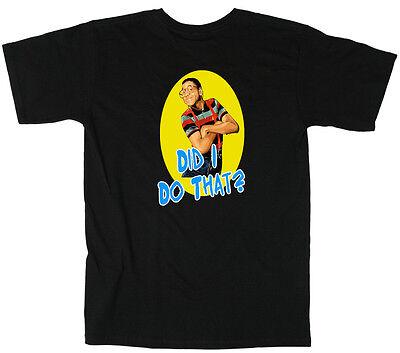 """Steve Urkel Family Matters """"Did I Do That?"""" dvd T-Shirt"""