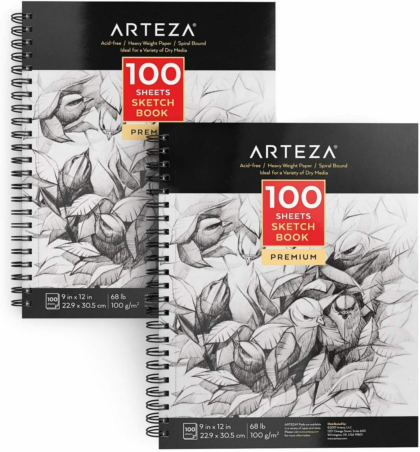 8.5 x 11 in, 60 Sheets, 3-Pack A4 Sketch Paper Pads for Artists and Painters