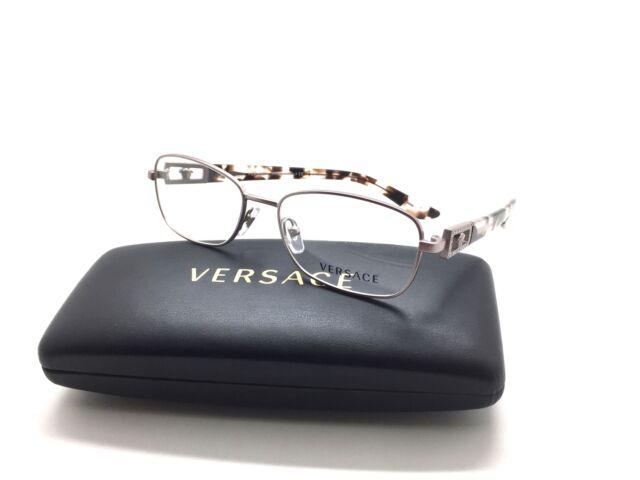 31fcb02d8b3a Versace Pink metal Tortoise Crystal 1260 Size 52 frame Eyeglasses 1216-B