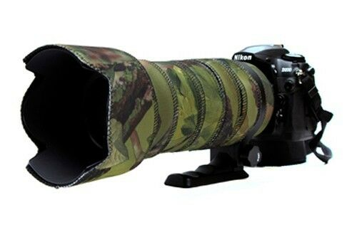 Sigma 50 500mm OS Neoprene lens protection camo coat cover Woodland Green