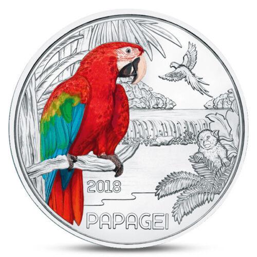 AUSTRIA ÖSTERREICH 3 EURO COLORFUL CREATURES PARROT BIRD MONKEY ANIMALS 2018 UNC